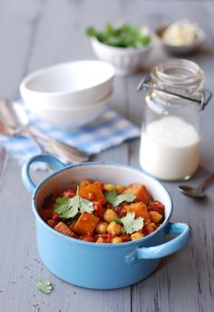 Roasted butternut squash & chickpeas