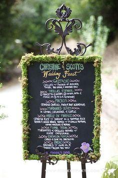 Wedding Chalkboard Food Menu