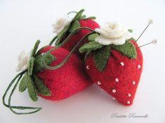 Strawberry pincushions