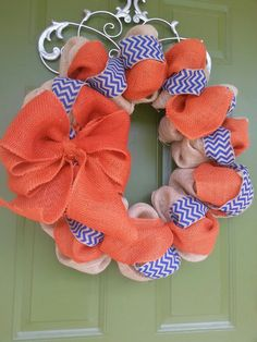 Auburn Tigers Burlap and by CurlyQsCreation, $60.00