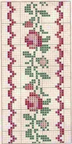 Little rose border cross stitch chart