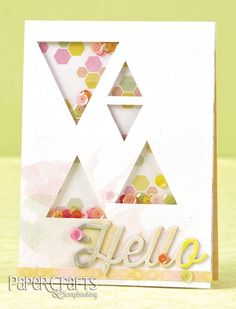 Use pre-cut paper to create shaker boxes on your card; Betsy Veldman - Paper Crafts & Scrapbooking Card Creations, Vol. 12: make cards, hello, sequins