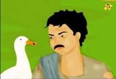 The goose that laid the golden egg - Ramu talks with the goose golden egg, kid