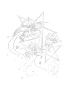 Wiccan Flowers (from a tattoo design)