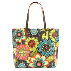 Scalloped Tote in Flower Shower