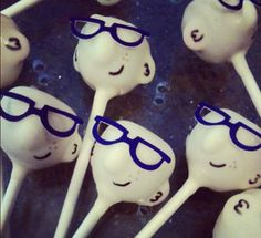 Dad's Face Cake Pops
