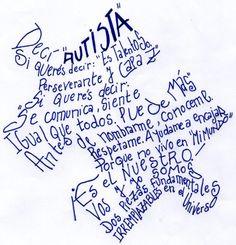 Afiche para la campaña contra el uso peyorativo del término AUTISMO