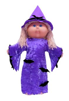 There is nothing spookier than a Witch at Halloween and this easy to make Witches Costume for your Cabbage Patch Kids Doll is super spooky with the addition of freaky bats. This pattern includes the Witches Dress, Witches Hat and a template for the freaky bats.    PDF doll clothes pattern also comes with 12 months access to step-by-step video instructions showing you how to make the outfit so there is no way you can go wrong!