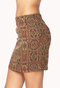 Tapestry-Inspried Mini Skirt | FOREVER21 - 2000051779