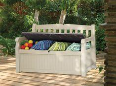 Plastic Garden Bench | eBay #PlasticsInTheGarden
