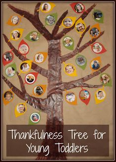 Thankfulness Tree. SS.3.49 Recognize the faces and voices of the key people (e.g., parents, grandparents, brothers and sisters, child care givers) in their lives.