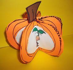 3-D life cycle classroom pumpkin project