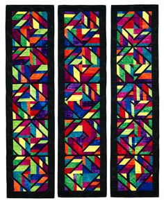 Sacred Places pattern by Susan Purney Mark, in  'Accent on Angles'(Martingale) .  Strip pieced.