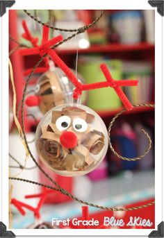 First Grade Blue Skies: Christmas Ornaments