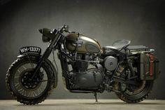 Vintage Triumph motorcycle.