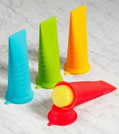 Little Bites Popsicle Molds - perfect for little hands, BPA-Free. Need these!!  Fill them with organic juice or fruit purees.  You can add a little raw organic honey if you want additional sweetener.