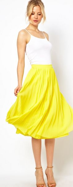 midi skirts, yellow midi skirt, long skirts, yellow skirt, night outfits, honeymoon outfits, summer pop style dresses