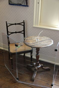 Jane Austen's writing desk at the Jane Austen House Museum in Chawton, England