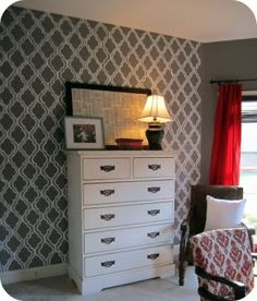 painted wall paper tutorial
