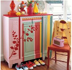 lovely! Stenciled and painted furniture  #stencils