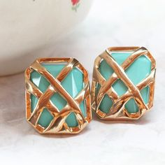gold and turquoise.