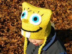 Squarebob Spongepants Crochet Hat Pattern by ItsATealThing