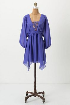 Kelwa Dress - Anthropologie. Another dress I'd wear as a tunic with my (standby) skinny jeans and big coral earrings. Yum.
