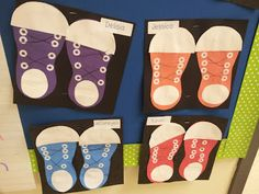 Shoe Art to go with Pete the Cat book - good cutting, gluing, following directions practice for beginning of the year