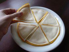 Cheese Quesadilla Felt Play Food by LittlePicklepotamus on Etsy