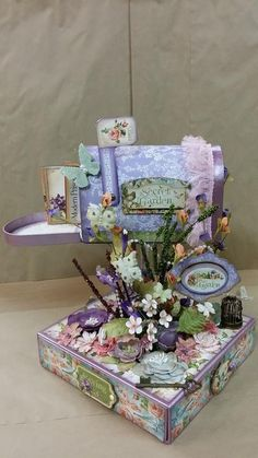 Graphic 45 Secret Garden Mailbox by Angela Medina