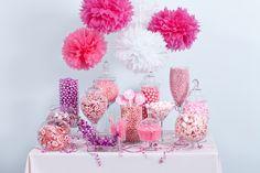 Pink candy buffet, starring Nuts.com candy.#nutsdotcom #wedding