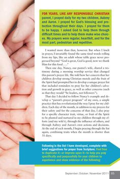 31 Ways to Pray for your Children - Part 1 of 4