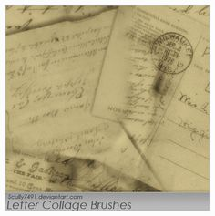 Letter Collage Brushes by ~Scully7491 on deviantART