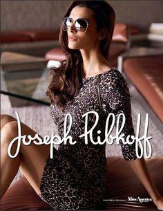 Joseph Ribkoff Dress | Edgy Animal Print. #josephribkoff #fashion