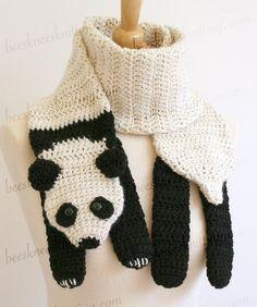 Panda Scarf Crochet Pattern