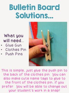 Bright Ideas for bulletin boards! I used to hot glue gun clothespins onto fabric but this is much more flexible in case you change your mind!