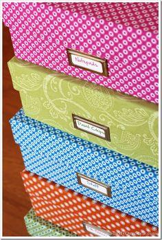 Fabric Covered Box Tutorial {InMyOwnStyle.com}