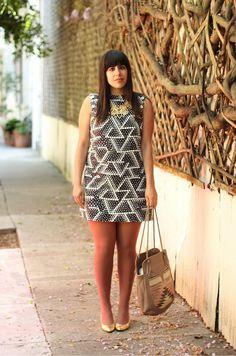 Graphic dress - Curvy fashion