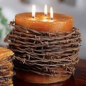 Barbed wire candle westerm-home-decor