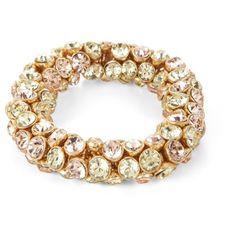 Rhinestone Elastic Bracelet ($48) ❤ liked on Polyvore