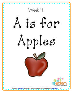 A is for Apple Themed Lesson Plans (one week) - free printable