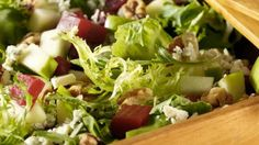 Walnut, Beet, Blue Cheese, Apple Salad with Raisin Vinaigrette by relish.com: Thanks to @Elizabeth Silbermann. Sharing this for potluck today! #Salad #Beet_Salad