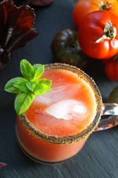 {Tomato Sunrise Cocktail} Extremely versatile and easy to make, this is the perfect drink to whip up for your next brunch party!