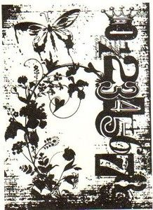 *Tim Holtz Cling Rubber ATC Stamp FAIRY GARDEN Stampers Anonymous