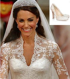 Close-up of Kate Middleton's Shoes