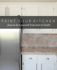This looks like a good tutorial for painting cabinets.