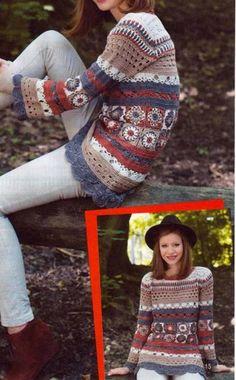 Crochet treasure trove: long sleeved tunics