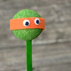 Kids of all ages will love making these Teenage Mutant Ninja Turtle Stick Puppets!
