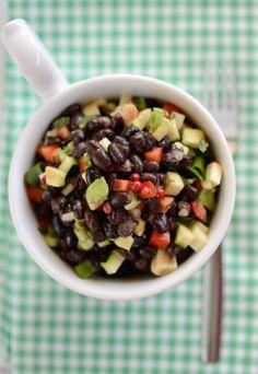 Vegan black bean salad