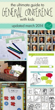 tons of activities, games, and other ideas for general conference with kids * UPDATED